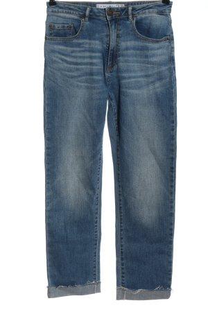 Amisu Straight-Leg Jeans blau Casual-Look