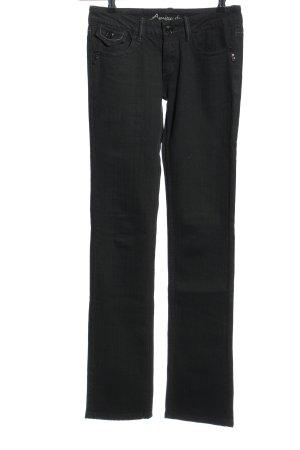 Amisu Straight-Leg Jeans schwarz Casual-Look