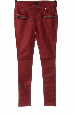 Amisu Stretch Jeans rot meliert Casual-Look