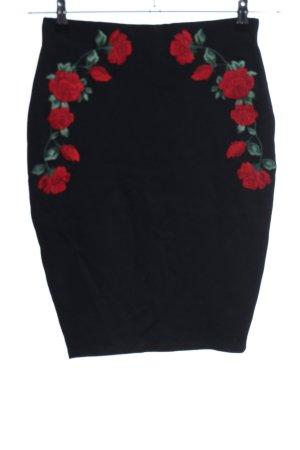 Amisu Stretchrock Blumenmuster Casual-Look