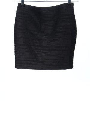 Amisu Stretch rok zwart gestreept patroon casual uitstraling