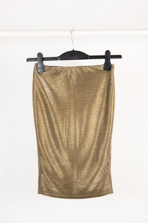 Amisu Stretch Skirt gold-colored polyester