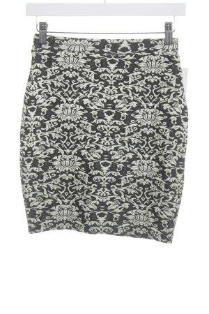 Amisu Stretchrock schwarz-creme Mustermix Street-Fashion-Look