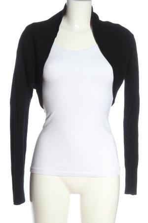 Amisu Boléro en tricot noir torsades style décontracté