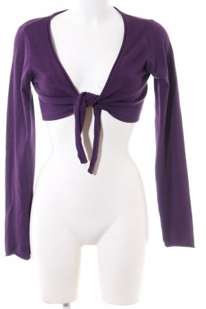 Amisu Knitted Bolero lilac casual look