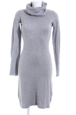 Amisu Knitted Dress light grey flecked casual look