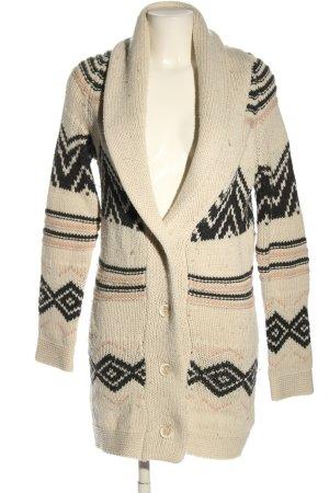 Amisu Cappotto a maglia motivo grafico stile casual