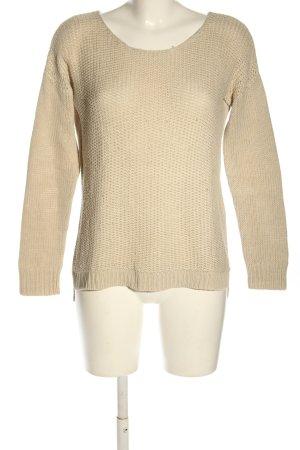 Amisu Pull tricoté blanc cassé torsades style décontracté