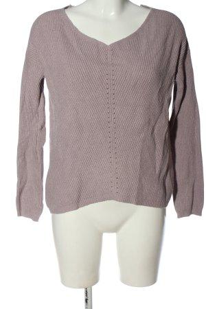 Amisu Maglione lavorato a maglia rosa stile casual