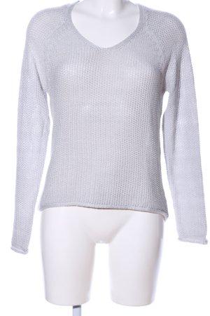 Amisu Pull tricoté blanc torsades style décontracté