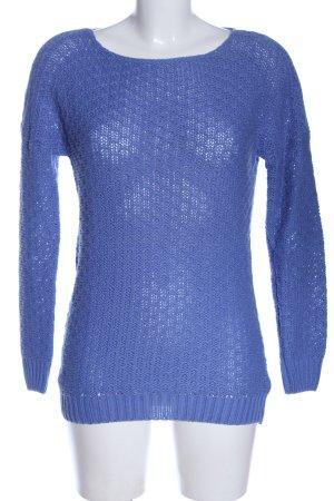 Amisu Strickpullover blau Casual-Look