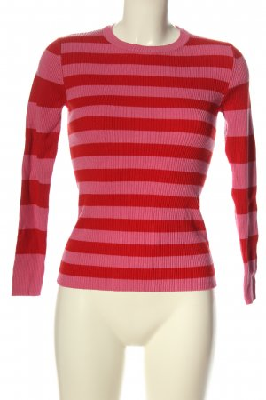 Amisu Strickpullover pink-rot Allover-Druck Casual-Look