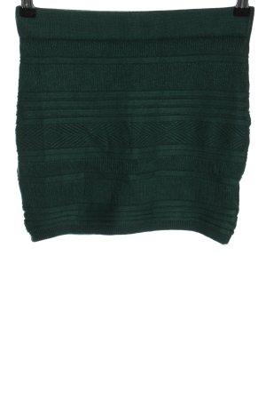 Amisu Gebreide rok groen gestreept patroon casual uitstraling