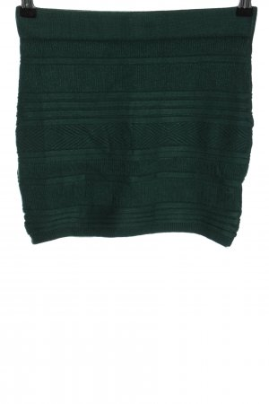Amisu Strickrock grün Streifenmuster Casual-Look