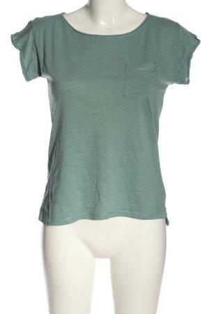 Amisu Gebreid shirt khaki gestippeld casual uitstraling