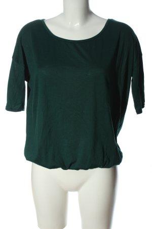 Amisu Strickshirt grün Casual-Look