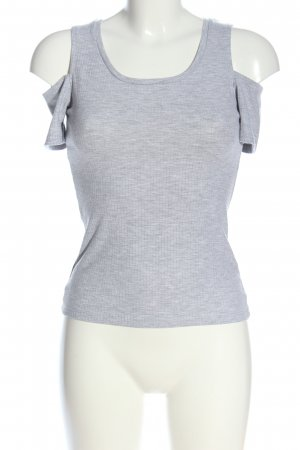 Amisu Knitted Top light grey flecked casual look