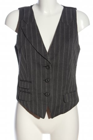 Amisu Knitted Vest striped pattern casual look