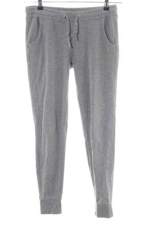 Amisu Pantalon de jogging gris clair moucheté style athlétique