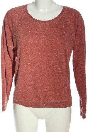 Amisu Sweatshirt rouge-blanc cassé moucheté style décontracté