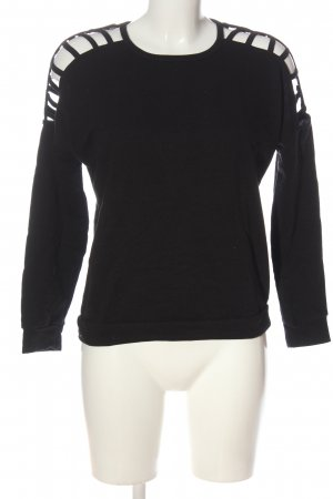 Amisu Sweatshirt schwarz Casual-Look