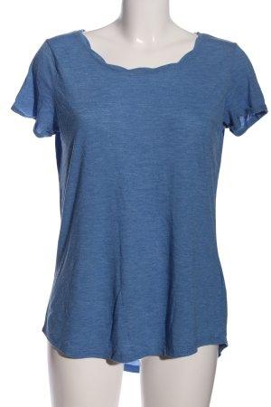 Amisu T-shirt blu puntinato stile casual