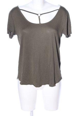 Amisu T-shirt brun style décontracté