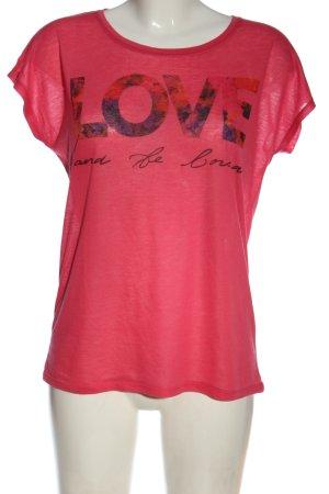 Amisu T-shirt Wydrukowane logo W stylu casual
