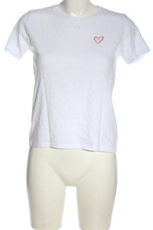 Amisu T-shirt blanc style décontracté