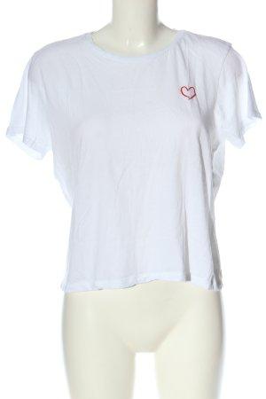 Amisu T-Shirt white casual look