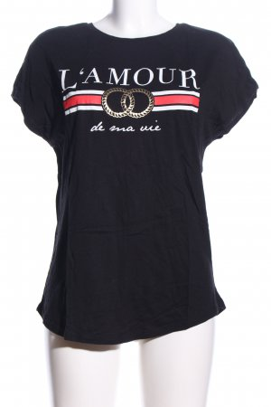 Amisu T-Shirt Motivdruck Casual-Look