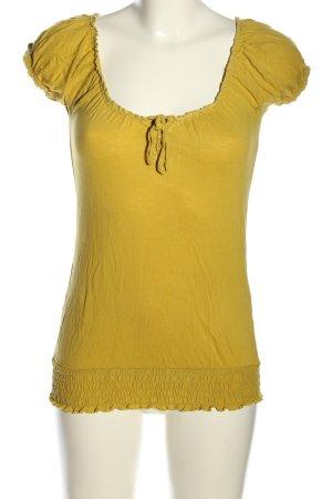 Amisu T-Shirt blassgelb Casual-Look