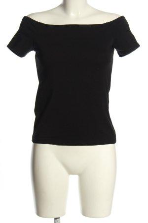 Amisu T-Shirt schwarz Casual-Look