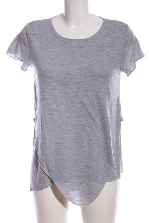 Amisu T-Shirt hellgrau meliert Casual-Look