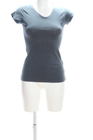 Amisu T-shirt bleu style décontracté