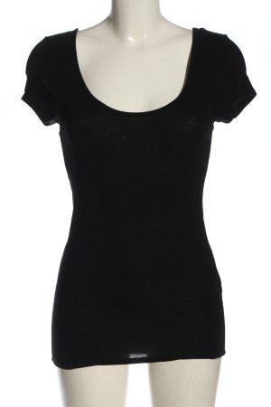 Amisu T-shirt czarny W stylu casual
