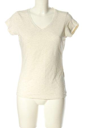 Amisu T-shirt w kolorze białej wełny Melanżowy W stylu casual