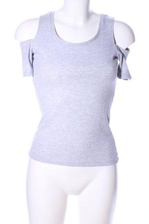 Amisu T-shirt gris clair moucheté style décontracté