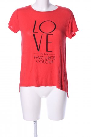 Amisu T-Shirt red-black printed lettering casual look