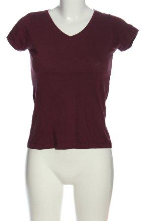 Amisu T-Shirt lila Zopfmuster Casual-Look