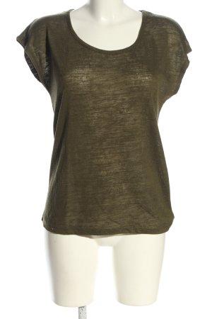 Amisu T-Shirt khaki meliert Casual-Look