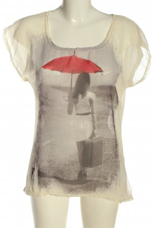 Amisu T-Shirt Motivdruck Casual-Look