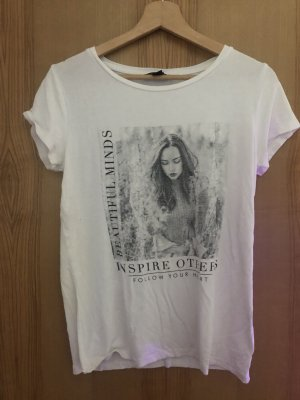 Amisu T-Shirt white-black