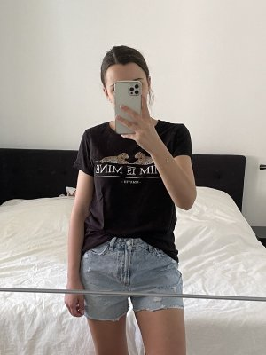 Amisu T-Shirt Print Leo schwarz Gr. S