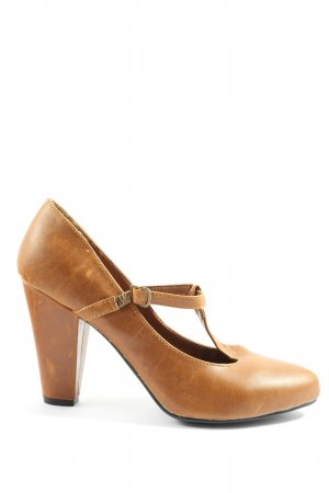 Amisu T-Steg-Pumps braun Casual-Look