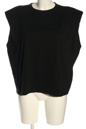 Amisu Blouse topje zwart casual uitstraling