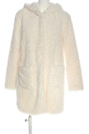 Amisu Manteau imitation fourrure blanc cassé style décontracté