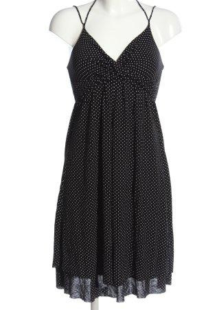 Amisu Trägerkleid schwarz-weiß Allover-Druck Elegant