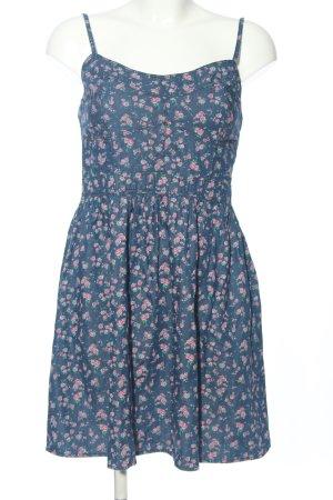 Amisu Jeanskleid blau-pink Allover-Druck Casual-Look