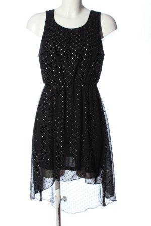 Amisu Trägerkleid schwarz Allover-Druck Elegant